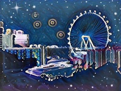 Vegas High Rollin Starry Nite Poster