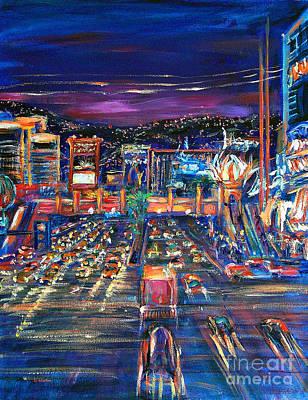 Vegas Lights Poster by Li Newton