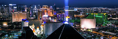 Vegas Lights Poster by Mikes Nature