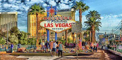 Poster featuring the photograph Vegasstrong by Michael Rogers