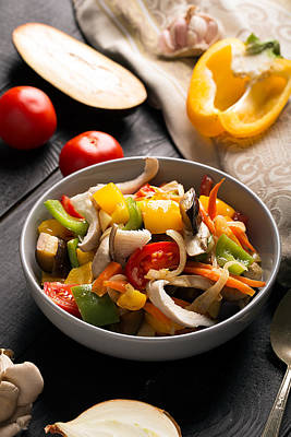 Vegetables Stir Fry Poster