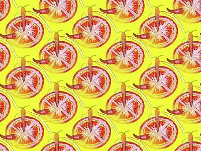Veggie Pattern Poster by Kathleen Sartoris