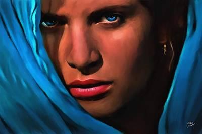 Velo Azzurro Poster by Fabio Saolini