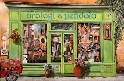 Vendita Di Orologi A Dondolo Poster by Guido Borelli