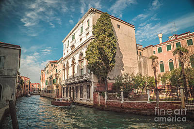 Venetian Architecture And Sky - Venice, Italy Poster