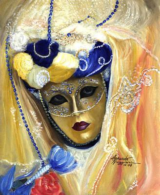 venetian carneval mask V Poster