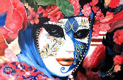venetian carnevale mask III Poster