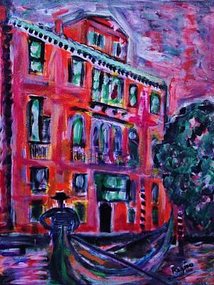Venetian Gondola Poster by Regina Brandt