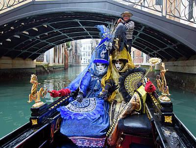 Venetian Ladies On A Gondola Poster