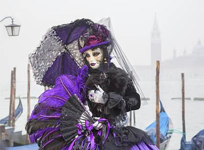 Venetian Lady In Purple Poster
