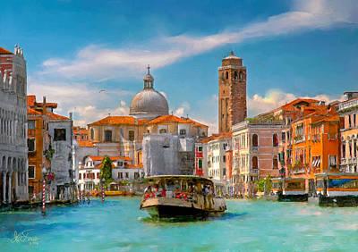 Venezia. Fermata San Marcuola Poster