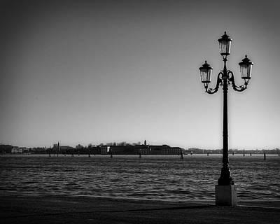 Venezia Lagoon Lamppost Poster