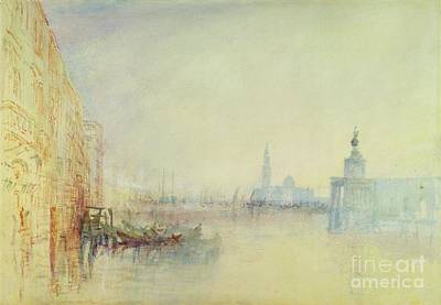 Venice - The Mouth Of The Grand Canal Poster by Joseph Mallord William Turner