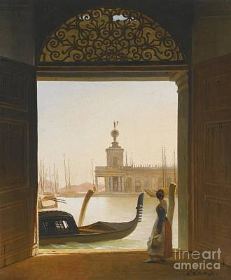 Venice A View Of The Dogana Poster by MotionAge Designs