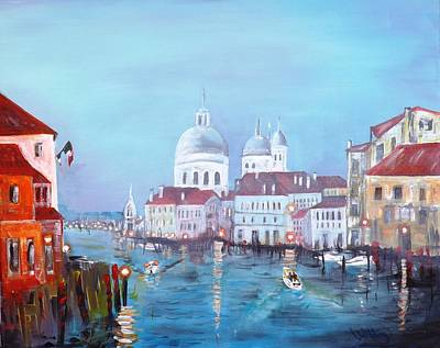 Venice At Dusk Poster