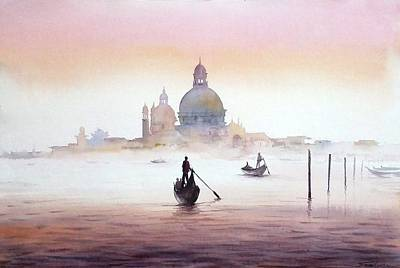 Venice At Early Morning Poster