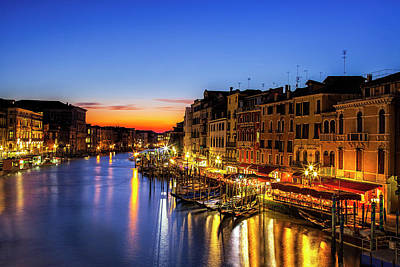 Venice At Twilight Poster