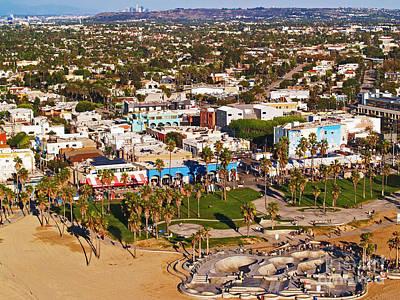 Venice Beach Aerial Poster
