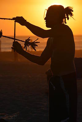 Venice Beach Silhouette Poster