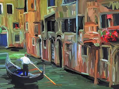 Venice Beautiful Gondolas Poster