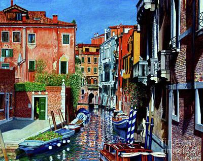 Venice Canal, Dorsoduro Poster