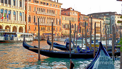 Venice Canalozzo Illuminated Poster by Heiko Koehrer-Wagner