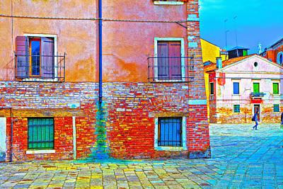 Venice Dorsoduro House Poster