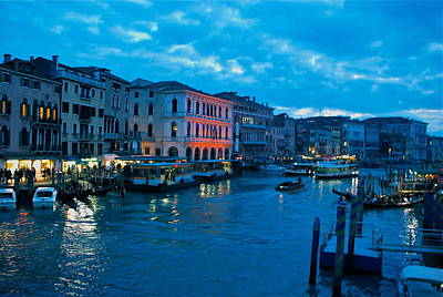 Poster featuring the photograph Venice Evening by Eric Tressler