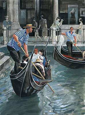Venice. Il Bacino Orseolo Poster