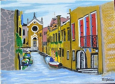 Poster featuring the painting Venice In September by Rod Jellison