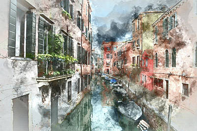 Venice Italy Canal Poster by Brandon Bourdages