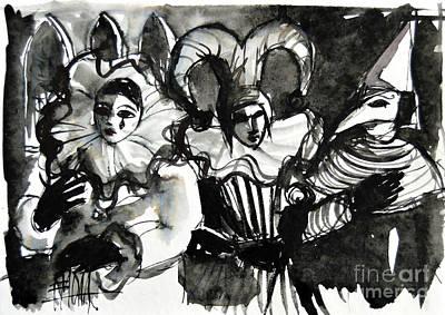Venice Masks Trio Poster