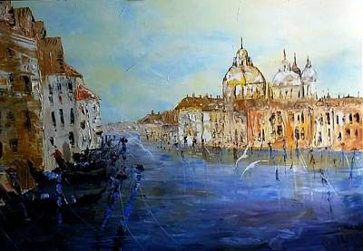 Venice Oil Sketch  Poster