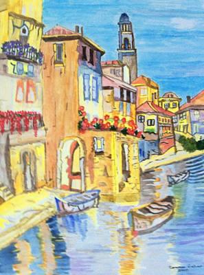 Poster featuring the painting Venice On A Summer Afternoon by Connie Valasco
