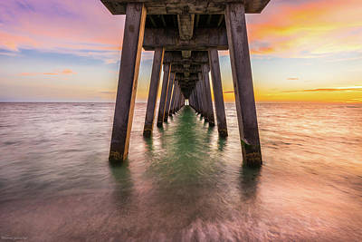 Poster featuring the photograph Venice Pier by Expressive Landscapes Fine Art Photography by Thom