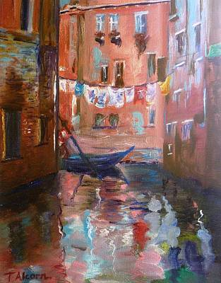 Venice Reflections Poster by Therese Alcorn