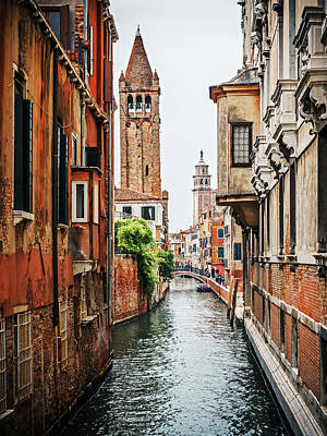 Venice - Rio Di San Barnaba Poster by Alexander Voss