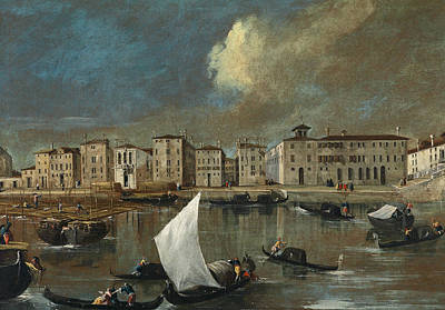 Venice, View Of The Fondamenta Nuove Poster by Apollonio Domenichini