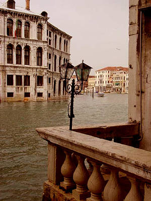 Poster featuring the photograph Venice Waterway by Nancy Bradley