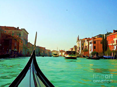 Poster featuring the photograph Venice Waterway by Roberta Byram
