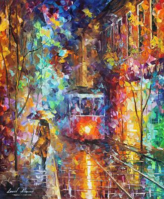 vening Trolley  Poster by Leonid Afremov