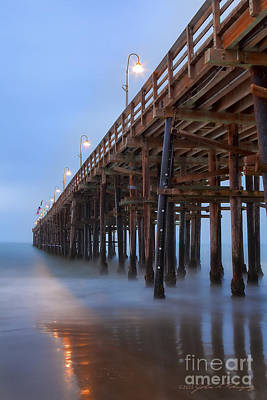 Ventura Ca Pier At Dawn Poster by John A Rodriguez