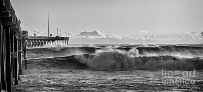 Ventura Pier El Nino 2016 Poster by John A Rodriguez
