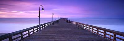 Ventura Pier Morning Mist Poster by Steve Munch
