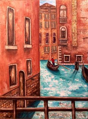Venice Poster by Annamarie Sidella-Felts