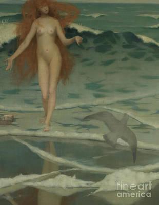 Venus Born Of The Sea Foam  The Birth Of Venus, Detail Poster