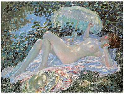 Venus In The Sunlight Poster by Frederick Frieseke