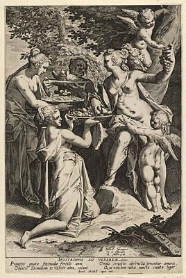 Venus Receiving Gifts Poster