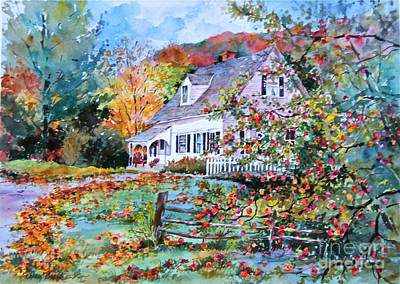 Vermont Country Cape Poster by Sherri Crabtree
