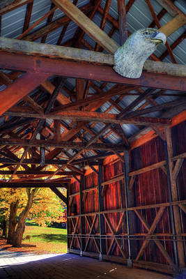 Vermont Covered Bridge In Fall Poster